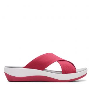 Clarks Womens Arla Elin Rose Synthetic Sandals